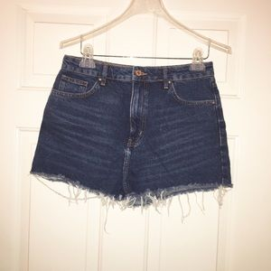 NWT forever 21 high waist denim shorts sz 28